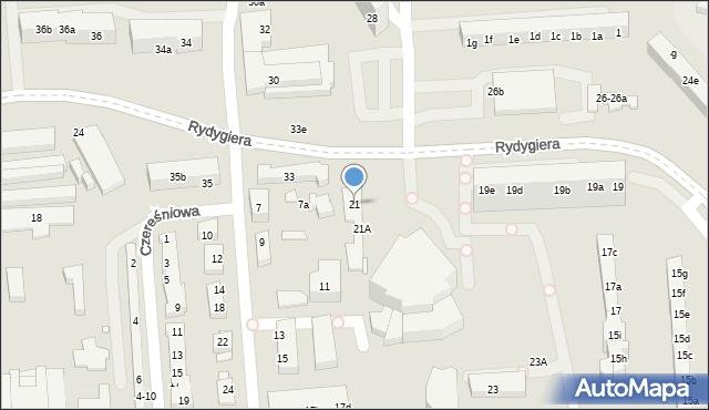 Toruń, Rydygiera Ludwika, 21, mapa Torunia