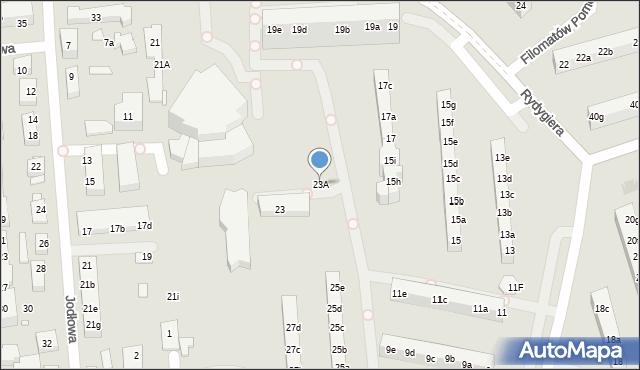 Toruń, Rydygiera Ludwika, 23A, mapa Torunia