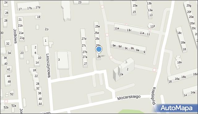 Toruń, Rydygiera Ludwika, 25, mapa Torunia