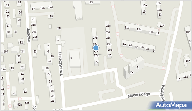 Toruń, Rydygiera Ludwika, 27a, mapa Torunia