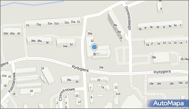 Toruń, Rydygiera Ludwika, 30, mapa Torunia