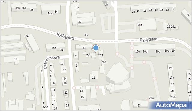 Toruń, Rydygiera Ludwika, 33d, mapa Torunia