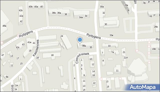 Toruń, Rydygiera Ludwika, 35c, mapa Torunia
