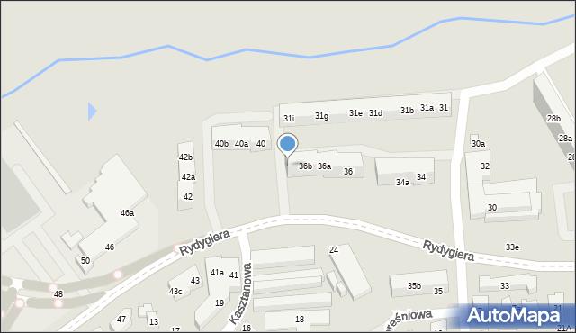 Toruń, Rydygiera Ludwika, 36c, mapa Torunia