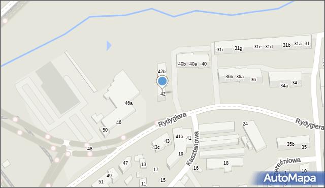 Toruń, Rydygiera Ludwika, 42, mapa Torunia