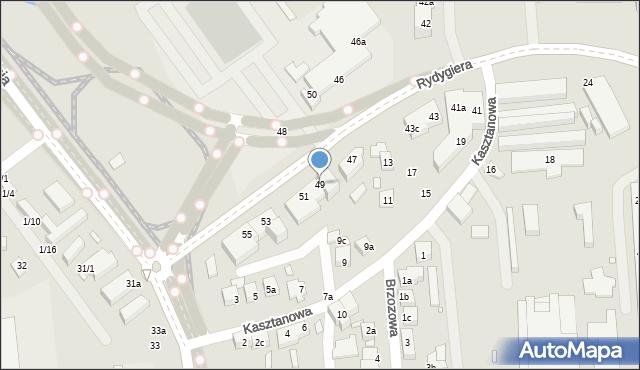 Toruń, Rydygiera Ludwika, 49, mapa Torunia