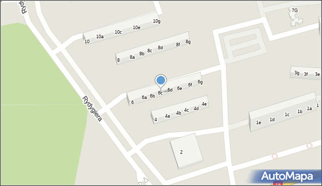 Toruń, Rydygiera Ludwika, 6c, mapa Torunia