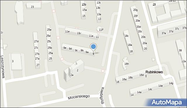 Toruń, Rydygiera Ludwika, 9, mapa Torunia