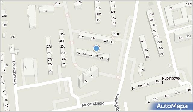 Toruń, Rydygiera Ludwika, 9b, mapa Torunia