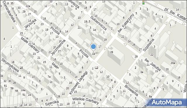 Toruń, Rynek Nowomiejski, 14, mapa Torunia