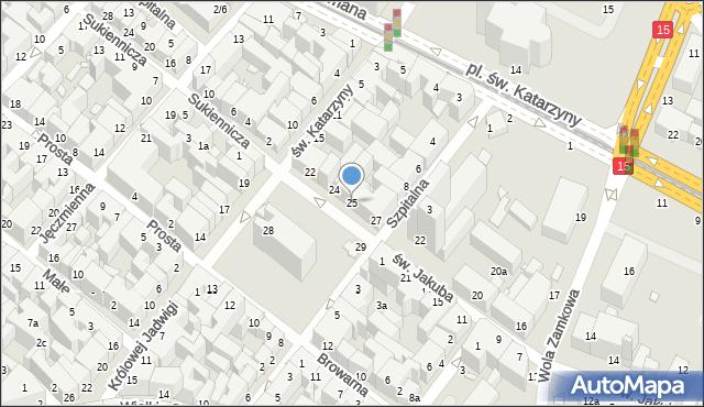 Toruń, Rynek Nowomiejski, 25, mapa Torunia