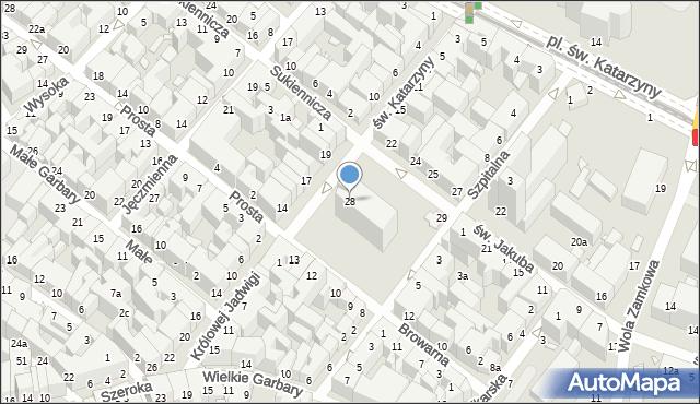 Toruń, Rynek Nowomiejski, 28, mapa Torunia