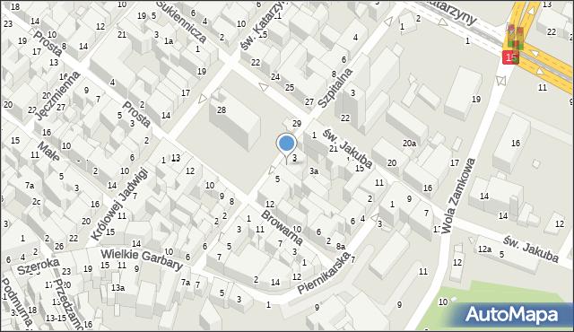 Toruń, Rynek Nowomiejski, 4, mapa Torunia