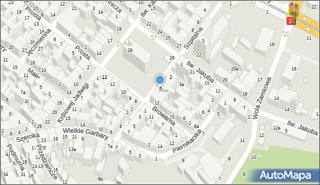 Toruń, Rynek Nowomiejski, 6, mapa Torunia
