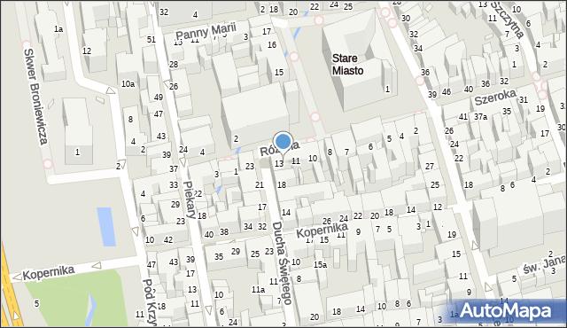 Toruń, Rynek Staromiejski, 12, mapa Torunia