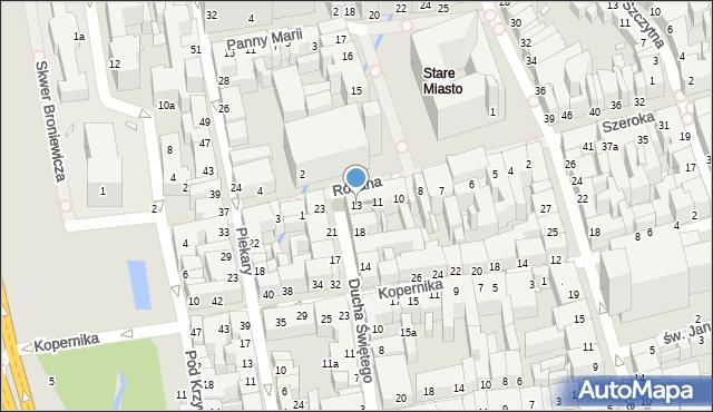 Toruń, Rynek Staromiejski, 13, mapa Torunia