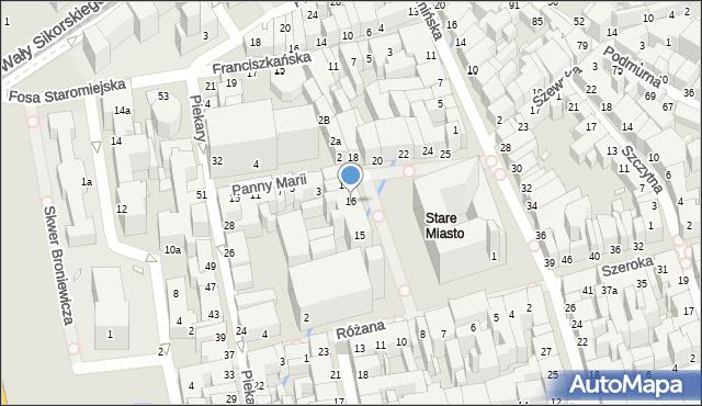 Toruń, Rynek Staromiejski, 16, mapa Torunia