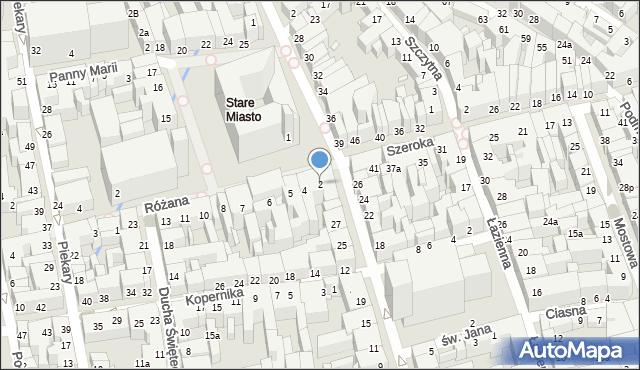 Toruń, Rynek Staromiejski, 2, mapa Torunia