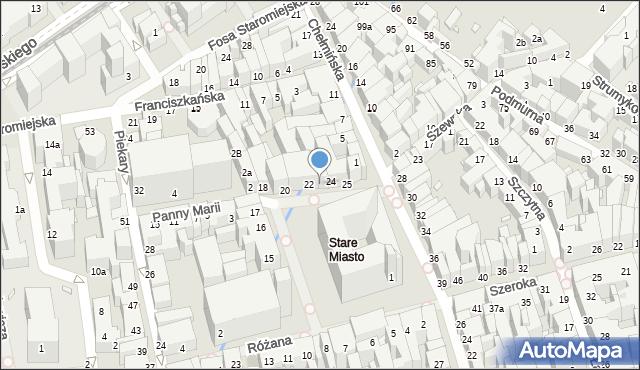 Toruń, Rynek Staromiejski, 23, mapa Torunia
