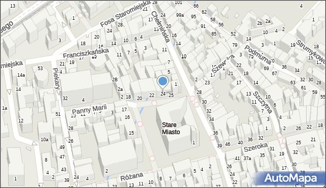 Toruń, Rynek Staromiejski, 24, mapa Torunia