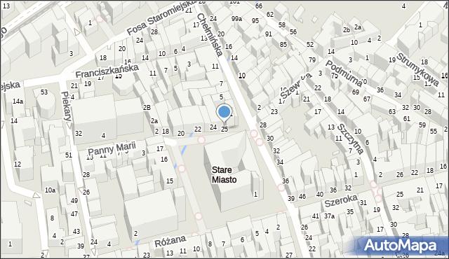 Toruń, Rynek Staromiejski, 25, mapa Torunia