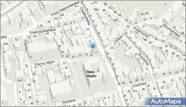 Toruń, Rynek Staromiejski, 26, mapa Torunia