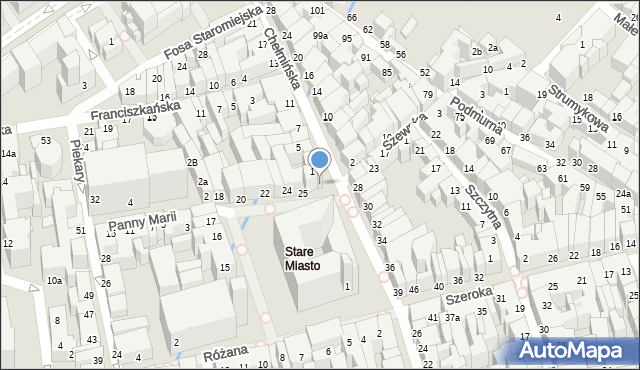Toruń, Rynek Staromiejski, 27, mapa Torunia