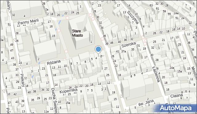 Toruń, Rynek Staromiejski, 3, mapa Torunia