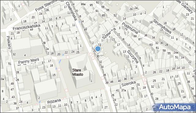 Toruń, Rynek Staromiejski, 30, mapa Torunia