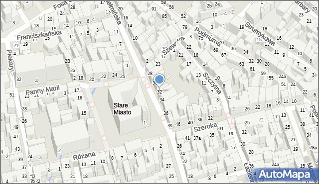 Toruń, Rynek Staromiejski, 32, mapa Torunia