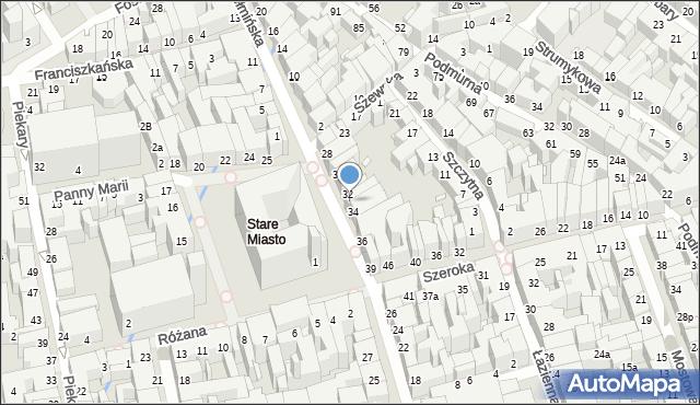 Toruń, Rynek Staromiejski, 33, mapa Torunia