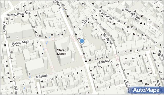 Toruń, Rynek Staromiejski, 34, mapa Torunia