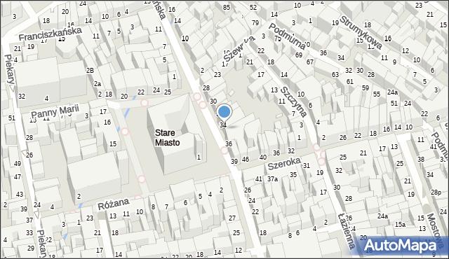 Toruń, Rynek Staromiejski, 35, mapa Torunia