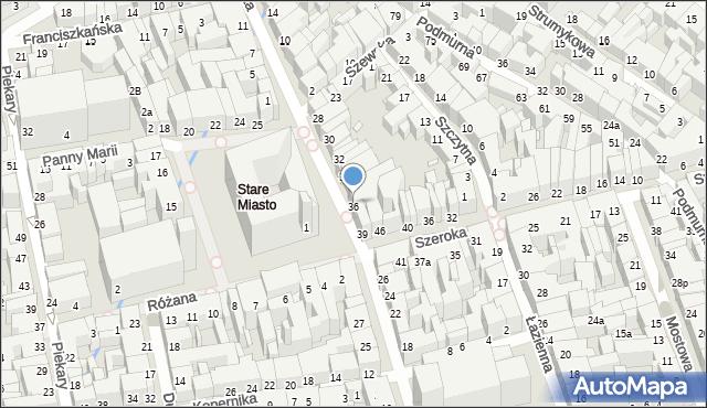 Toruń, Rynek Staromiejski, 37, mapa Torunia