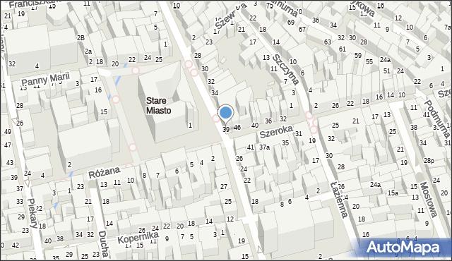 Toruń, Rynek Staromiejski, 39, mapa Torunia