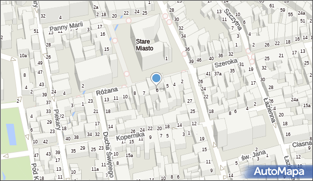 Toruń, Rynek Staromiejski, 6, mapa Torunia
