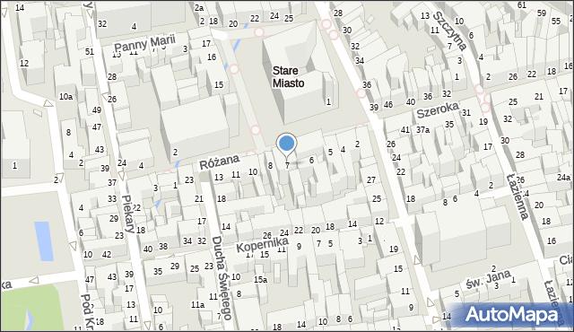 Toruń, Rynek Staromiejski, 7, mapa Torunia