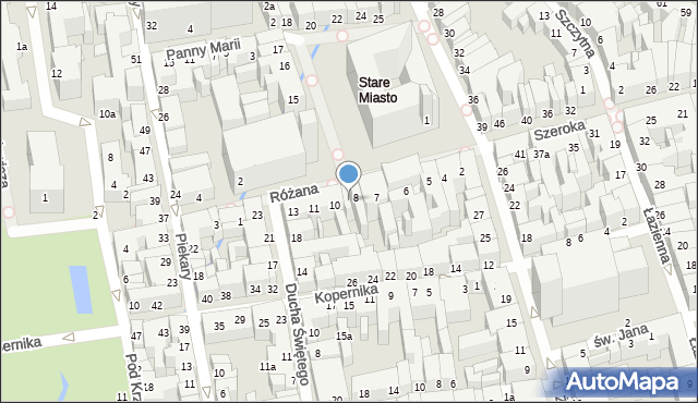 Toruń, Rynek Staromiejski, 9, mapa Torunia