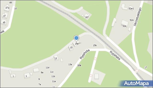 Toruń, Rypińska, 15a, mapa Torunia