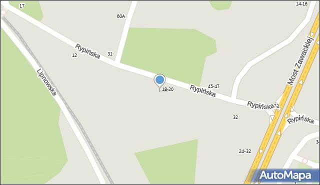 Toruń, Rypińska, 22, mapa Torunia