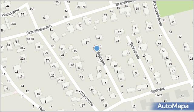 Toruń, Ryżowa, 13, mapa Torunia