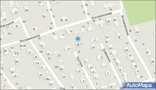 Toruń, Ryżowa, 18, mapa Torunia