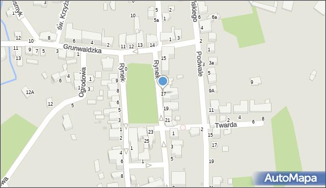 Tyczyn, Rynek, 17, mapa Tyczyn