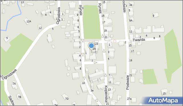 Tyczyn, Rynek, 25A, mapa Tyczyn