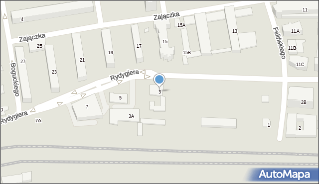 Warszawa, Rydygiera Ludwika, 3, mapa Warszawy