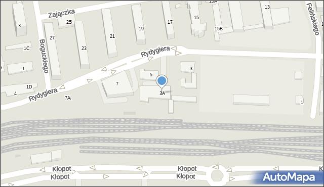 Warszawa, Rydygiera Ludwika, 3A, mapa Warszawy
