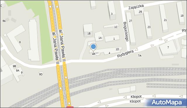 Warszawa, Rydygiera Ludwika, 4A, mapa Warszawy