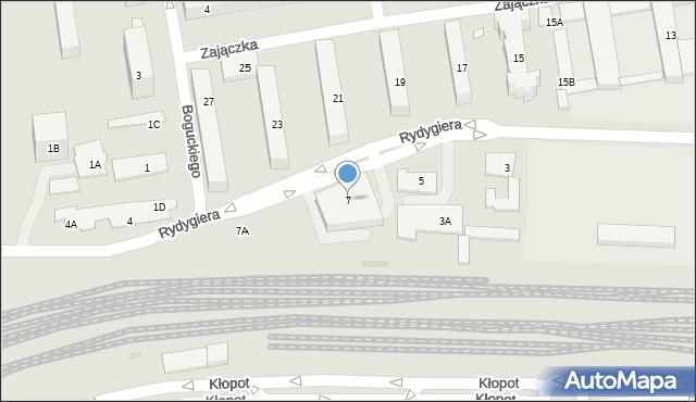 Warszawa, Rydygiera Ludwika, 7, mapa Warszawy