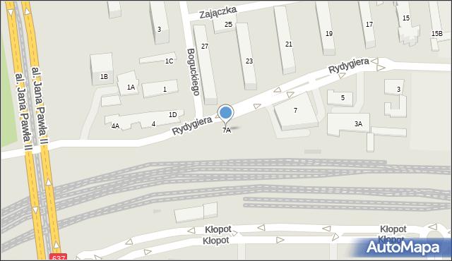 Warszawa, Rydygiera Ludwika, 7A, mapa Warszawy