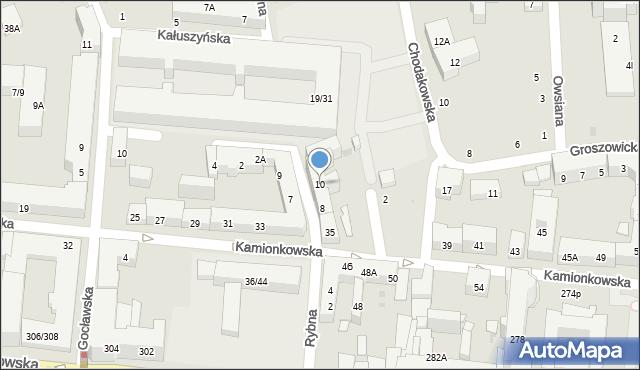 Warszawa, Rybna, 10, mapa Warszawy